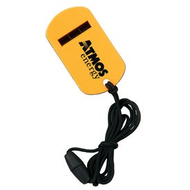 Promotional Dog Tag Whistle with Break Away Lanyard
