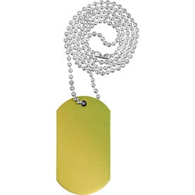 "Dog Tag with 23 1/2"" Ball Chain Imprinted with Your Logo"