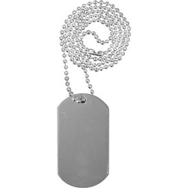 "Personalized Dog Tag with 23 1/2"" Ball Chain"