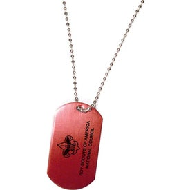 "Dog Tag with 23 1/2"" Ball Chain for Promotion"