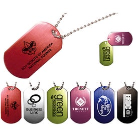 Dog Tag with Ball Chain