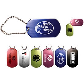 "Dog Tag with 4 1/2"" Ball Chain"