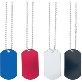 Dog Tag on Bead Chain Printed with Your Logo