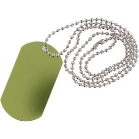 Dog Tag Ball Chain Imprinted with Your Logo