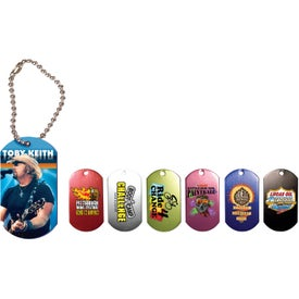 "Dog Tag Ball Chain (4 1/2"", Digitally Printed)"