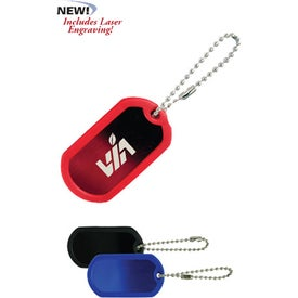 Dog Tag Keytag With Silencer