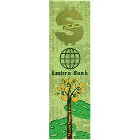 Dollar Sign Seed Shape Bookmark