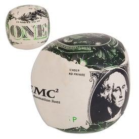 Dollar Bill/Financial Theme Pillow Ball