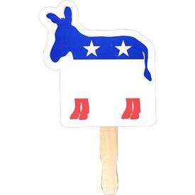 Advertising Donkey - Patriotic Hand Fan