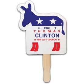 Donkey Patriotic Hand Fan