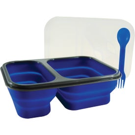 Double Collapsilunch Container Imprinted with Your Logo