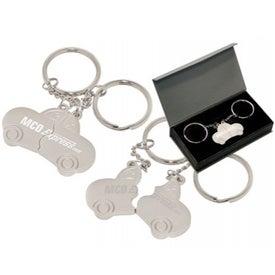 Custom Double Ring Auto Keychain
