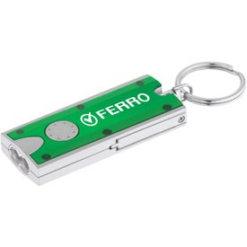 Double LED Rectangular Key-Light Printed with Your Logo