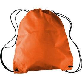Monogrammed Drawstring Backpack in a Bottle Combo