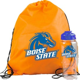 Drawstring Backpack in a Bottle Combo for Marketing