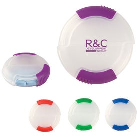 Dual Compartment Pill Holder with Your Logo