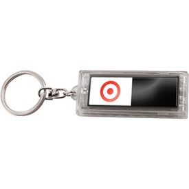 Dual Image Solar Keychain Branded with Your Logo