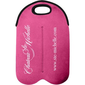 Dual Neoprene Wine Bottle Holder for Marketing