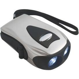 Dynamo Crank Flashlight Imprinted with Your Logo