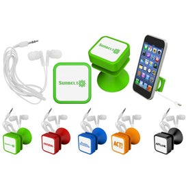 Ear Bud and Phone Stand with Your Logo