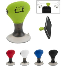 Ear Bud Splitter/Phone Stand Branded with Your Logo
