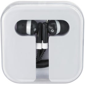 Ear Buds in Compact Case with Your Slogan