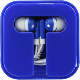 Monogrammed Ear Buds in Compact Case