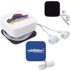 Ear Buds with Cord Keeper and Screen Cleaner