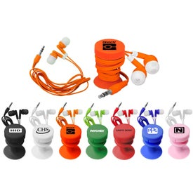 Promotional Ear Buds With Ear Bud Buddy