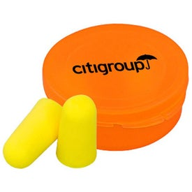 Ear Protection in Round Case for Advertising
