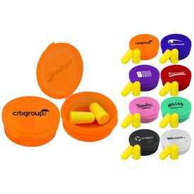 Imprinted Ear Protection in Round Case