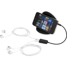 Imprinted Sound Off Earbuds and Splitter With Case