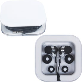 Earbuds in Square Case for Marketing