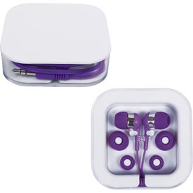 Logo Earbuds in Square Case