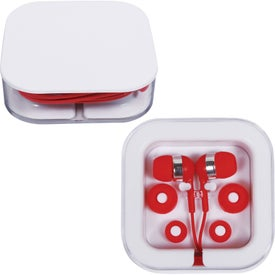 Company Earbuds in Square Case