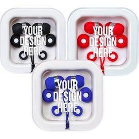 Earbuds in Square Case for Your Company