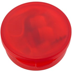 Ear Buds In Round Plastic Case with Your Logo