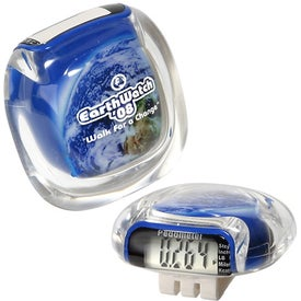 Custom Earth Clearview Pedometer