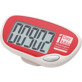 Imprinted Easy Read Large Screen Pedometer