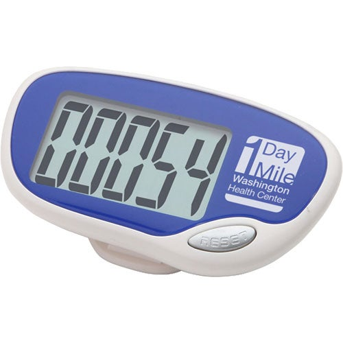 Blue Easy Read Large Screen Pedometer