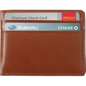 Easy View Magnetic Wallet with Your Slogan