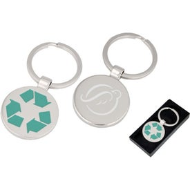 Eco Symbol Keychain Imprinted with Your Logo
