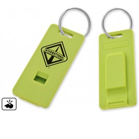 Eco Whistle Keychain Imprinted with Your Logo