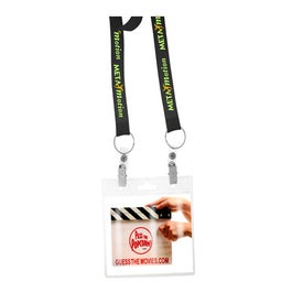 Printed Econo Lanyard with Two Attachment