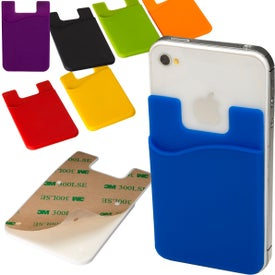 Econo Silicone Mobile Device Pocket Card Holder for Customization