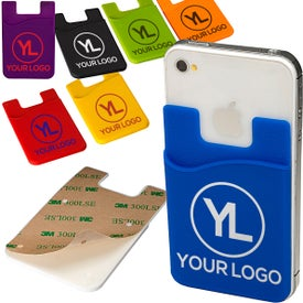 Econo Silicone Mobile Device Pocket Card Holder