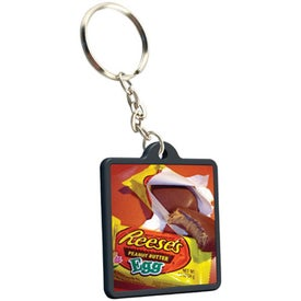 Logo Economical Square Keychain