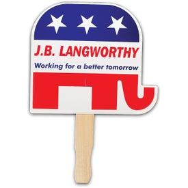 Elephant - Patriotic Hand Fan
