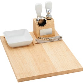 Imprinted Entertainer Wine & Cheese Board