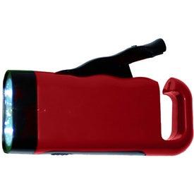 Erin Crank Flashlight LED Bulb Imprinted with Your Logo